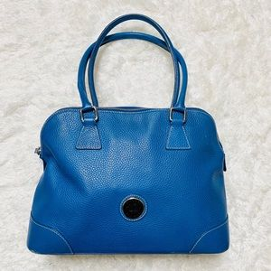 Dooney & Bourke Blue Bowler Bag